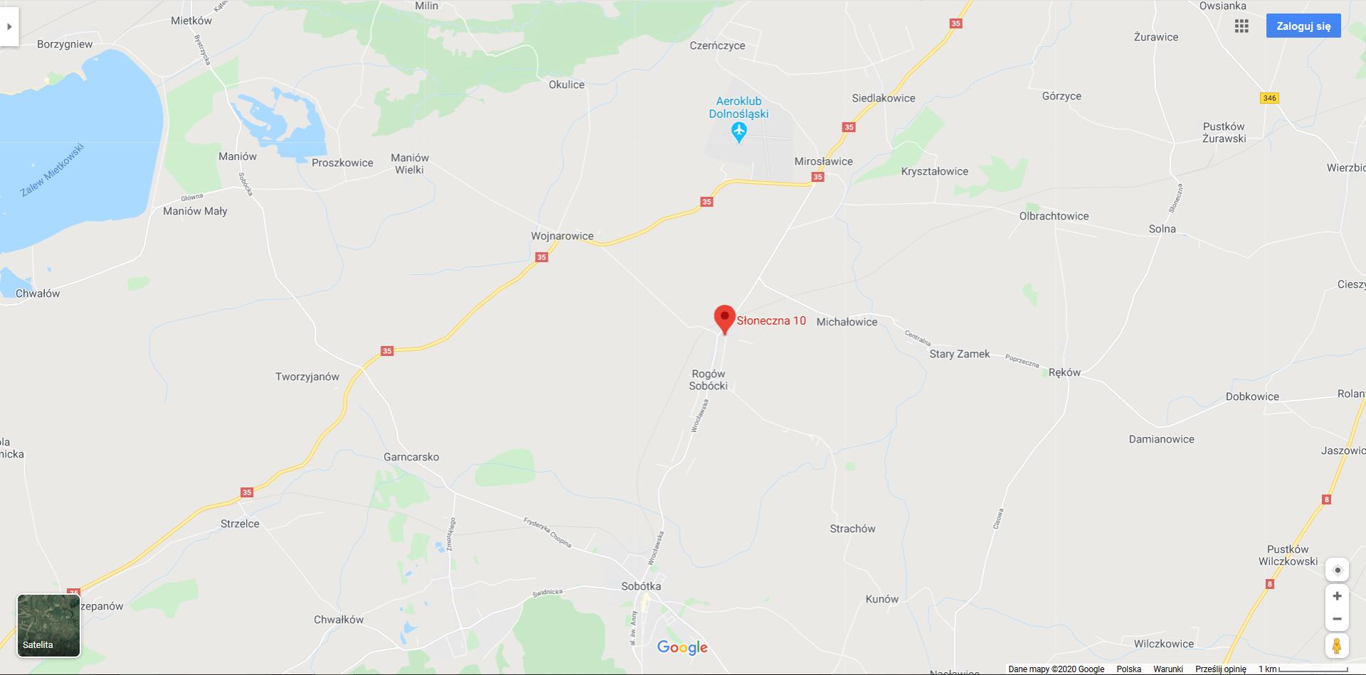 mapa lokalizacja firmy Komarski Ltd Green - Within
